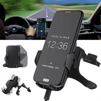 Ventas calientes Nuevo Qi Fast Cargador inalámbrico para Samsung Galaxy S8 Plus S6 Edge S7 Edge Note 5 8 Car Phone Holder Air Vent Mount Stand