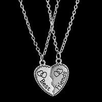 en iyi mücevher kolye toptan satış-2016 Moda Aşk Çift Kolye Retro Best Friends Aşk anne kızı Kolye Kolye Erkekler ve Kadınlar Için Yüksek dereceli Alaşım Takı