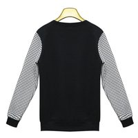 Wholesale Cheapest Cashmere Sweaters - Cheapest Sweasters New European Houndstooth Embroidered Inverted Cashmere Sweater Black