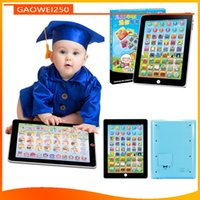Wholesale English Child Ipad - Baby Infant ipad simulation learning machine in English and Chinese children puzzle early education multi-purpose flat-panel touch toys