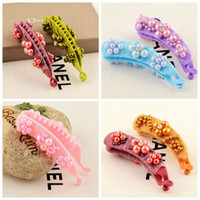 Perle Bobby Pins Barrettes Hot Hairpins Clip per capelli per le donne Girls Rhinestone Hair Hair Bow Accessories Idee Regalo Hairclip