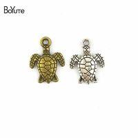 Wholesale bronze bracelet accessories for sale - BoYuTe Pieces MM Antique Bronze Silver Metal Animal Sea Turtle Charms Pendants Diy Jewelry Findings Accessories fit Bracelets