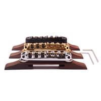 Wholesale Guitar Tailpiece Bridge - Archtop JAZZ Guitar Tailpiece Bridge w  black Roller