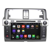 Wholesale Double Din Toyota - 9 Inch Capacitive multi-touch screen Android 5.1 Car DVD Player for Toyota Prado 2014 Double DIN Can Bus GPS WIFI 3G IPOD