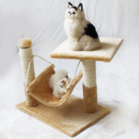 Wholesale wholesale nest - Soft Cat Nest Sisal With U Shape Flatform Pets Climbing Frame Toy Adjustable Comfortable Cats Houses Top Quality 49zf B