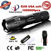 Wholesale Diving Flashlight T6 - G700 E17 CREE XML T6 3800Lumens High Power LED Torches Zoomable Tactical LED Flashlights torch light for 3xAAA or 1x18650 battery