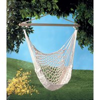Wholesale Cotton Hanging Chair - Swing Hanging Indoor Outdoor Cotton Rope Wood Air Delixe Sky Swing Hammock Chair