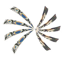 Wholesale Pheasant Wings - 4 Inch Right Wing Arrow Feather Peltate Turkey Feathers Archery DIY Arrow Fletching Hunting Arrows Pheasant Feathers