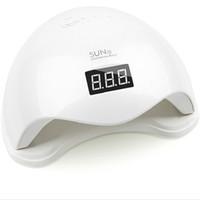 capteur de lampe automatique achat en gros de-Lampe à ongles 48W UV LED Séchoir à ongles SUN5 avec affichage LCD