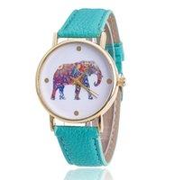 Wholesale Elephant Pins - elephant Geneva Luxury Watch leather Watches For Women Dream Catcher Wind Chimes feather watches Quartz Wrist Watches Fashion dress watch