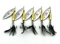 Wholesale Spinner Baits Blades - NEW Big Game saltwater Fishing Spinner Metal Jigs bait 8.7cm 17.5g Fly Fishing VIB Blades Spinnerbaits Bass Fishing