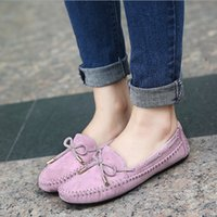 Mulher Sapatos Ballet Flats Round Toe Slides Belt Suture Sandals Bow Loafers Soft Soled Shoes Apricot Pink Black Rose Red