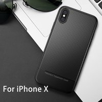 Wholesale Gel Mobile Phone Covers - Carbon Soft TPU Gel Rugged Cell Phone Case for iPhone X 8 7 6 6s Plus Ultra Thin Mobile Cover for SAMSUNG Galaxy note 8 Cases for oneplus 5