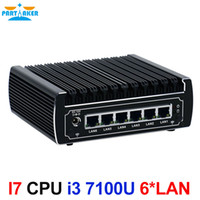 Partaker 6 * Intel Intel 82583V Lan senza fili Intel Skylake Core i3 7100u dual core 2.4GHz Mini PC Linux Firewall Router DHCP VPN Server