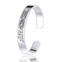 Wholesale Happiness Bangle - Wholesale 10Pcs lot 2017 New Fashion Halloween Jewelry Health Safe Prosperity Protect Lucky Happiness Evil Eye Stainless Steel Bangle