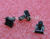 Wholesale Microswitch Tact Switch - Wholesale-100pcs 6x6x10mm SMD Tact Switches Tactile Switch Microswitch Push button 6x6x10 mm