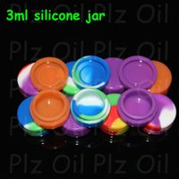 Wholesale Silcone Toys - 3ml Air Tight Odorless Medical Silicone Jar Herb Stash Container Oil Container Silcone Container Jars Dab Silicone Wax Container 100pcs lot