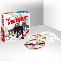 Wholesale Free Games 21 - Newest Twister Board Game English Version Party Family Game Send English Instructions with Free Shipping 24*21*4.5cm