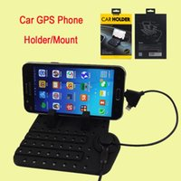 Non-Slip Silicone Car GPS Phone Tablet Stand / Support / Support universel réglable Micro Port USB 2 en 1 connecteur pour l'iphone DHL OTH239 gratuit