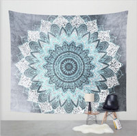 Wholesale Decorative Wall Hanging Art - 100% Cotton Wall Decorative Hanging Tapestries Indian Mandala Style Bedspread Ethnic Throw Art floral Towel Beach Meditation Yoga Mat