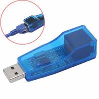 lan rj45 tablet großhandel-USB 2.0 zu LAN RJ45 Ethernet Adapter 10/100 Mbps Netzwerkkarte Konverter Für Win7 Win8 Android Tablet PC