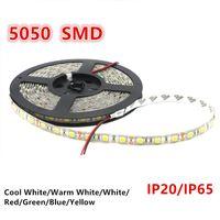Wholesale Color Led Strip 5m - SMD 5050 Led Strip Light 60led m Single color 5M 300 LEDs Waterproof   Non-waterproof Flexible LED Strip Light for Wedding Christmas Party