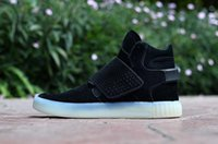 Wholesale New Mens Boots Knee High - New Arrival 7 colors Famous Originals Tubular Invader Strap Kanye West 750 Boost Mens Sports Running Athletic Sneakers Shoes Size 40-46