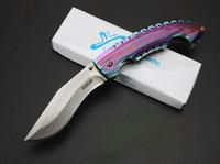 facas coloridas venda por atacado-AÇO FRIO Spartan Dogleg Faca Dobrável Lidar Com Alumínio Lidar Com Sereia Colorido Tático Camping Caminhadas Sobrevivência Bolso EDC Coleção