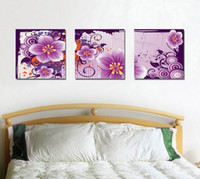 Modern Beautiful Flower Peach Blossom Painting Impression Giclée Sur Toile Home Decor Art Wall Set30361