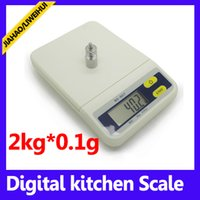 Wholesale Weighing Scales 2kg - 2KG best food scale lcd kitchen weighing scale 50PCS LOT
