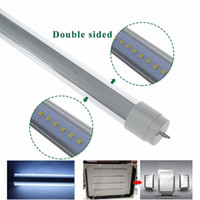 Wholesale Double Side Box - 360 degree Emitting T8 Double Side LED tube lights FA8 R17D Rotating 4ft 28W 6ft 42W 8ft 65w Sign Box Lighting LED Lights