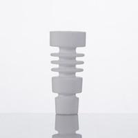 Wholesale universal ceramic nail online - Domeless Male Female Ceramic Nail Universal Fits mm mm Joint Also Offer Quartz Titanium Banger Dozer Nail