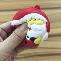 Wholesale Christmas Toys Santa Claus - 7cm Christmas Squishy Toys for Kids slow rising squishy Finger Doll Puppets Santa Claus Snow Man Jumbo Toy Christmas Gift with Package STS02