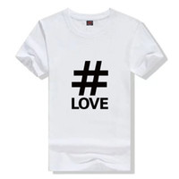 Wholesale Black Keys Signed - Pound key T shirt Hash sign short sleeve gown Street tees Leisure printing clothing Quality cotton Tshirt