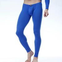Wholesale Modal Lenzing - Wholesale-Free Shipping New Men's Long Johns Lenzing Modal Warm Pants Thin Thermal Underwear Low-rise Sexy Tights Size M L XL XXL