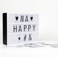 Wholesale Lighted Decorative Boxes Wholesale - Cinematic Light Box Letter number symbol Cinema Sign Wedding Party Shop Decor DIY Art Lighting wholesale