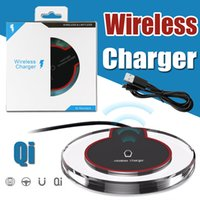 Wholesale Charging Dock For Tablets - Universal Qi Wireless Charger Pad Tablet Crystal Dock Charging For iPhone X 8 Samsung S8 S7 Note 8 LG Nexus 5 6 Nokia HTC With Retail Box