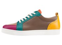 Wholesale Morning Shoes - Karmran Mens Real Leather Fashion Sneakers Low Cut Morning Style Comfort Flats Shoes