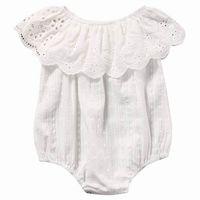 2057c7a93 macacão infantil feminino branco venda por atacado-Verão Bebê Recém-nascido  Menina Bodysuits de