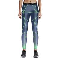 ingrosso giacche verdi delle donne-Womens Green Cross Lines Stampa Sport Yoga Fitness Leggings Pantaloni a matita Stampa digitale Work Out Pantaloni elastici slim skinny pantaloni attillati
