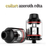 Wholesale coil art azeroth - Coil Art Azeroth RDTA mm Diameter ml Big Juice Capacity SUS304 stainless steel Update Coilart Mage RTA fit for tread mod