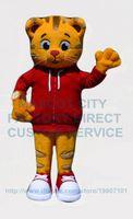 Wholesale Tiger Mascots Costumes - high quality daniel tiger mascot costume adult size cartoon tiger theme school colleage sport carnival fancy dress kits 2607