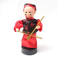 küçük çocuklar kostümleri toptan satış-Ücretsiz kargo çocuk elektrikli Erhu oyuncaklar Kör Bing Kostüm küçük çocuk bebek Ses Oyuncaklar müzikal komedi