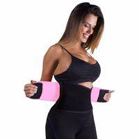 soporte de cintura azul al por mayor-Aleumdr Adjustable Belly Trainer Cintura Soporte Fitness Belt Sport Purple Pink Black Blue Waistband Power Tummy Slim Belts 50011