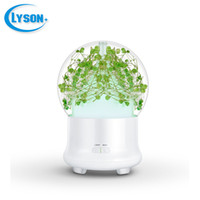 Wholesale green preserves - Preserved Fresh Flower 7 Color-changing LED Ultrasonic Aroma Air Humidifier Mini Essential Oil Diffuser 100ml Baby's Breath Green