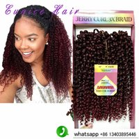 "Wholesale Cheap Hair Accessories Pack - cheap price synthetic kinky twist braiding hair 10""inch ombre T1b burgundy colors freetress curly hair 3pieces pack free shipping"