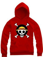 Wholesale Hoodies Monkey - free shipping one piece Monkey D Luffy sweatshirts hoodies multi color japan anime one piece hoodies