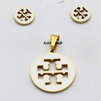 Wholesale Cheap Indian Costume Jewelry - cheap fashion stainless steel costume jewelry dubai gold jewelry set
