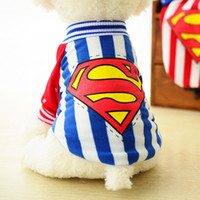 Wholesale Cotton T Shirts Suppliers - Winter Spring Dog Clothes for Small Puppy , Cartoon Superman Dogs Clothing Costumes For Teddy Chihuahua Cat Apparel Pet Dog Supplier XXS-L