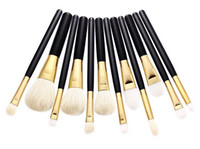 Wholesale Eyeshadow Brush Goat Hair - 5pcs 7pcs 12pcs Pro Makeup Brushes Blusher Eyeshadow Foundation Concealer Cosmetics Brush Goat Hair Eyebrow Powder Beauty Tools